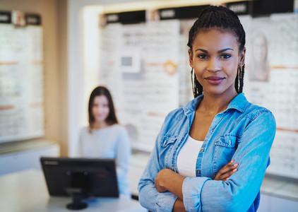 Black female shop owner