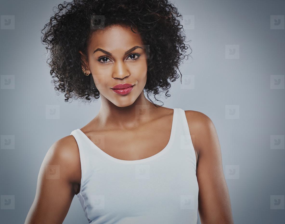 Calm single serious Black woman
