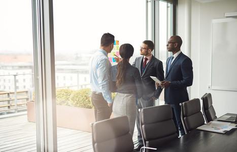 Diverse multiracial management team