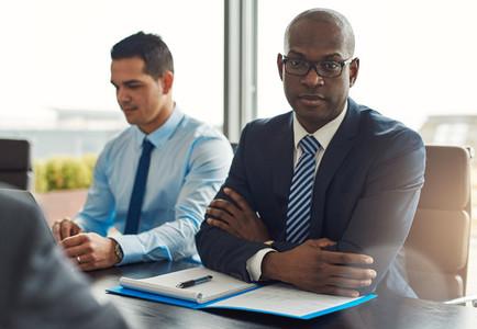 Executive multiracial business team