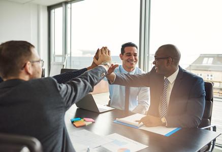 Successful multiethnic business team