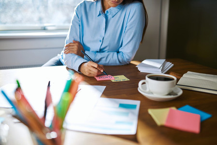 Female small business owner working from home