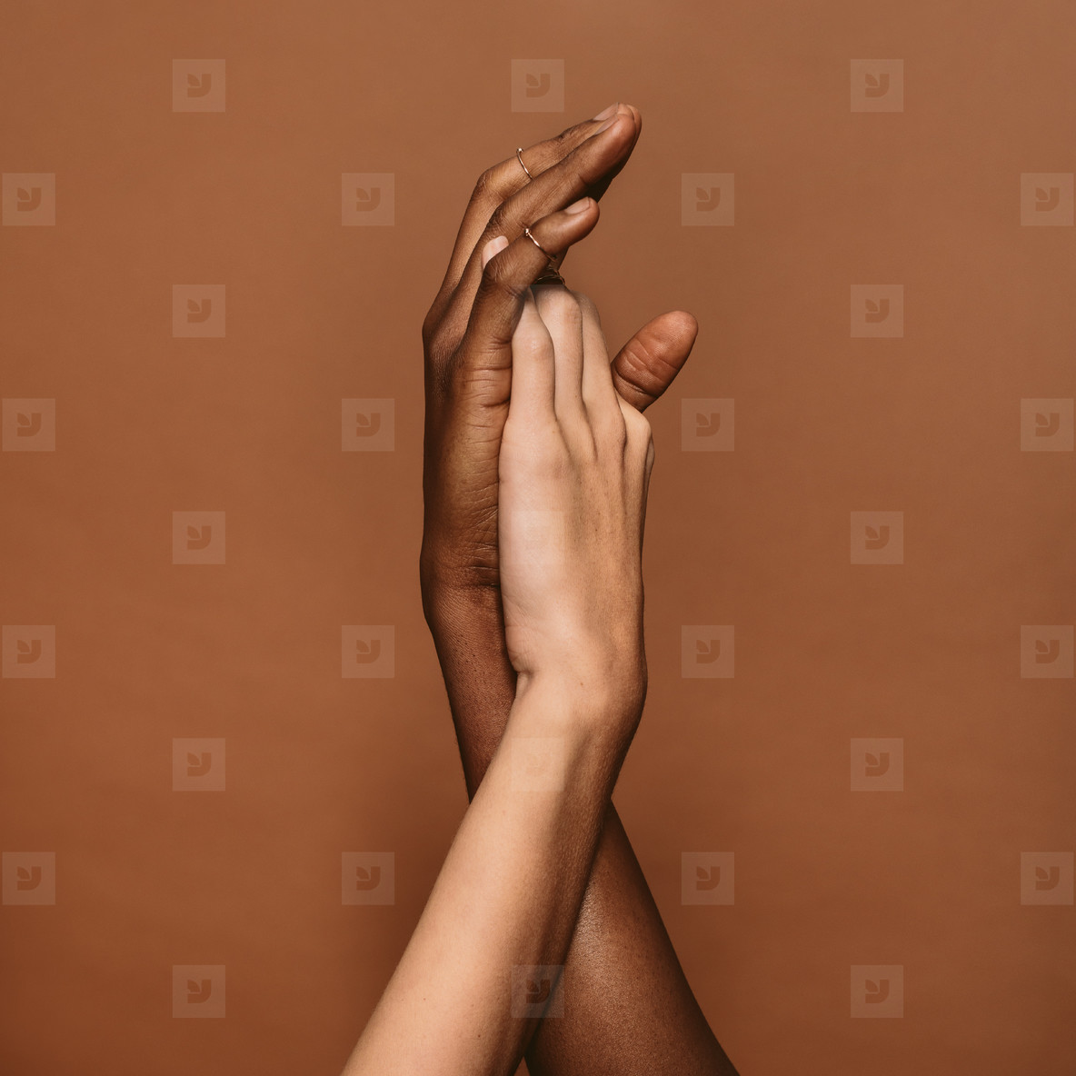 Two female hands together