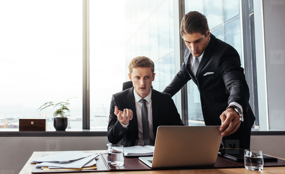 Corporate professionals creating a strategy