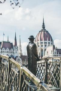 Bronze monument of Hungarian national hero Imre Nagy