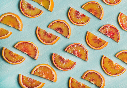 Natural fruit pattern concept with blood orange slices