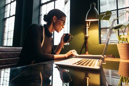 Fashion designer working in her desk