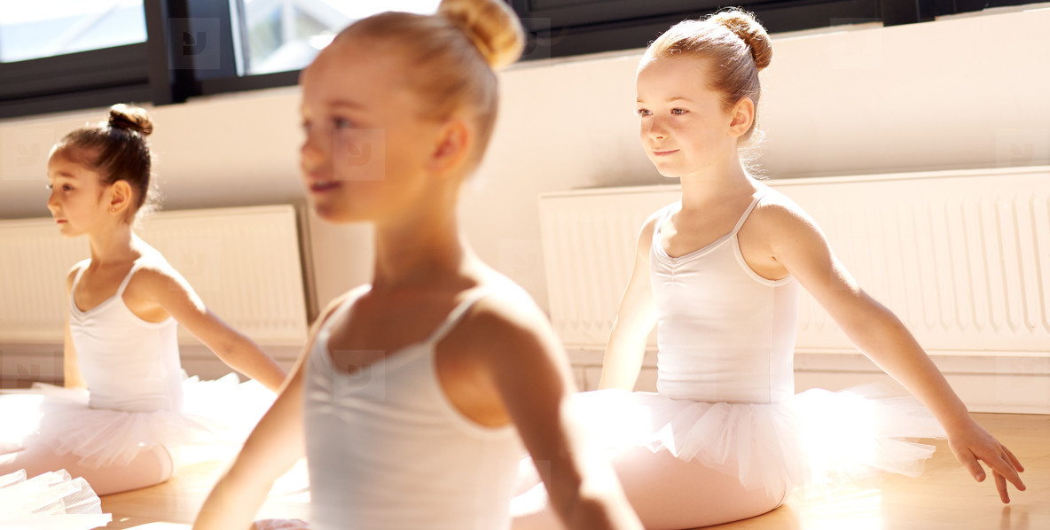 Three young girls in ballet