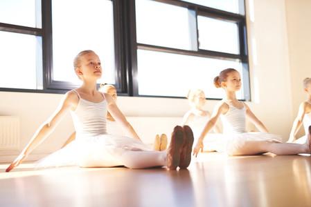 Little ballerinas in class