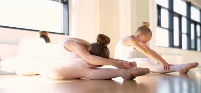 Two Young Ballerinas