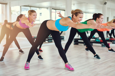 Young and healthy women exercising