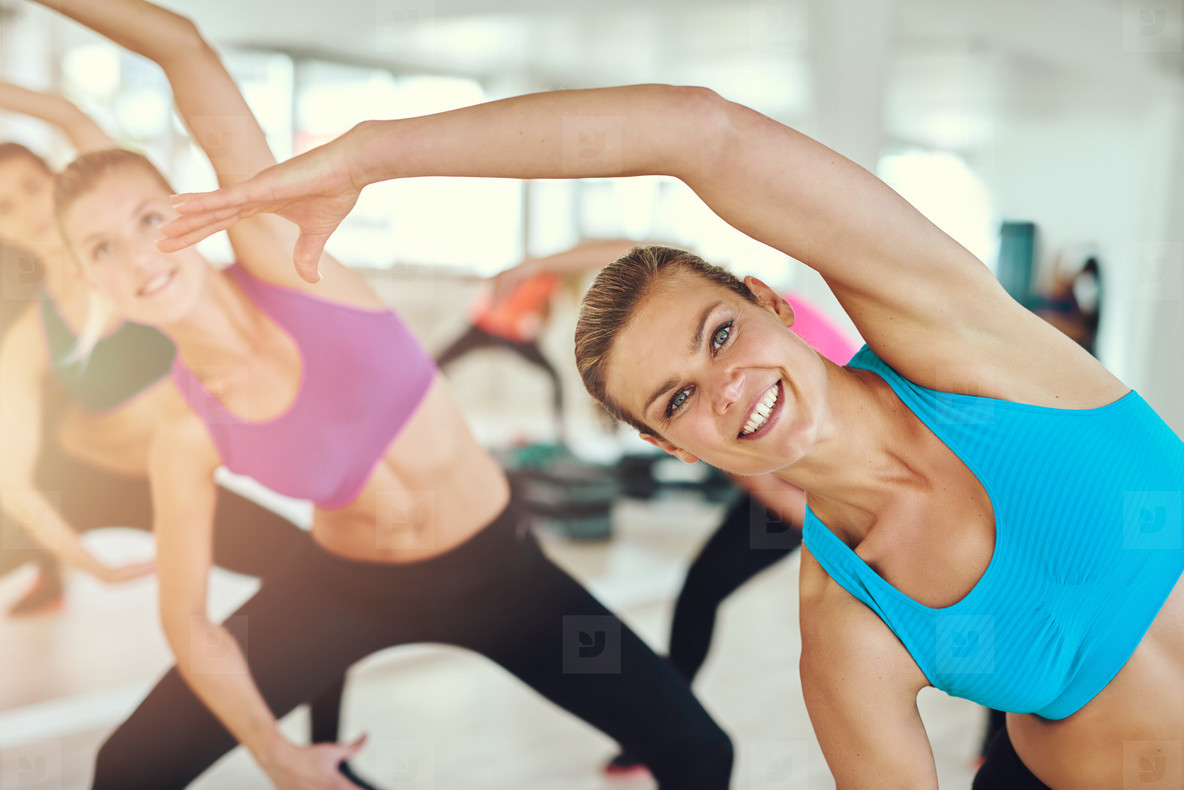 Healthy and fit woman in a fitness class