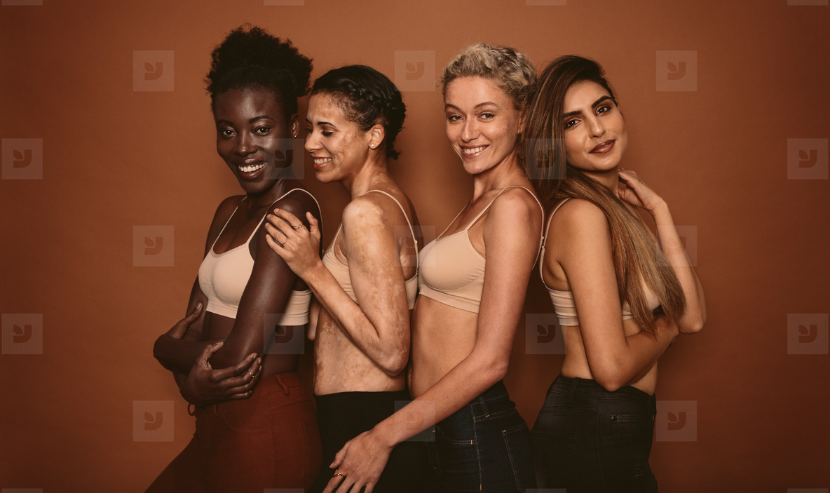 Female models with different skins