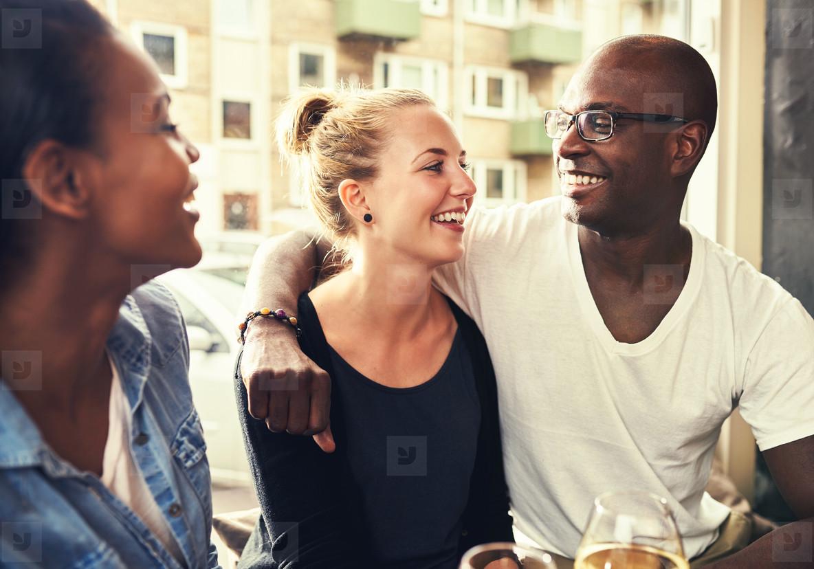 Multi ethnic couple