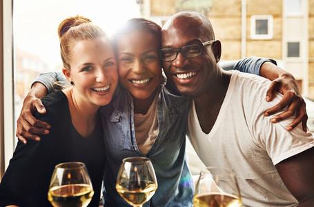 Three ethnic best friends