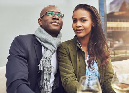 Black couple enjoying life