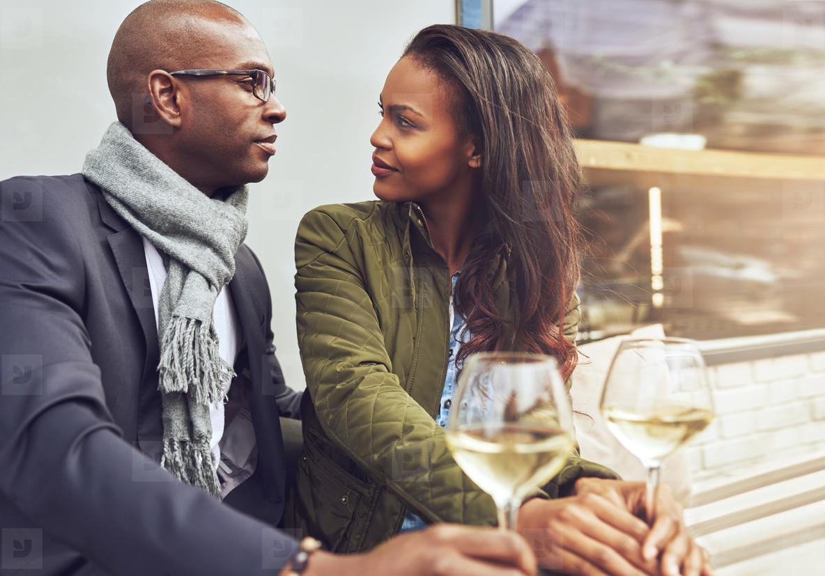Black couple having a conversation