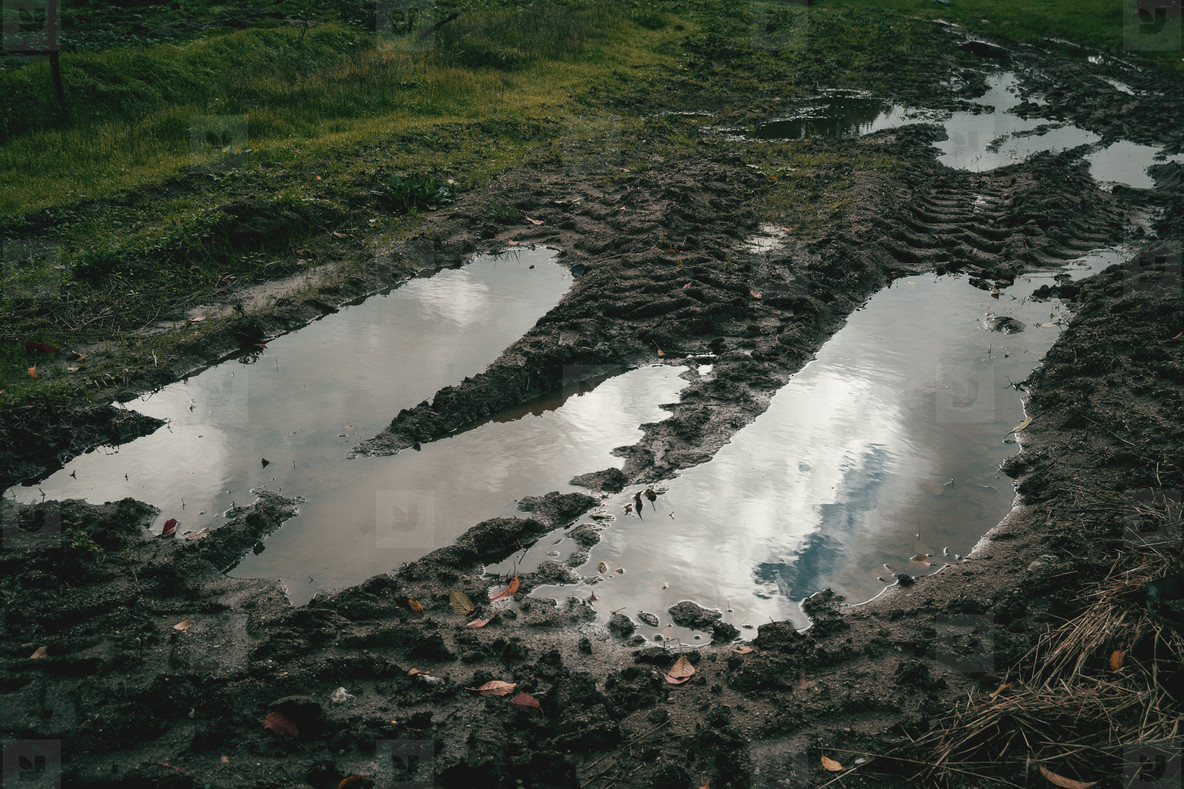Puddle on the earth