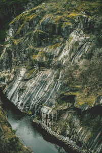 Waterfall in the belesar reservoir