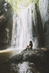 Waterfall in Bali  Indonesia
