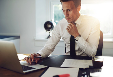 Business man sitting at his desk