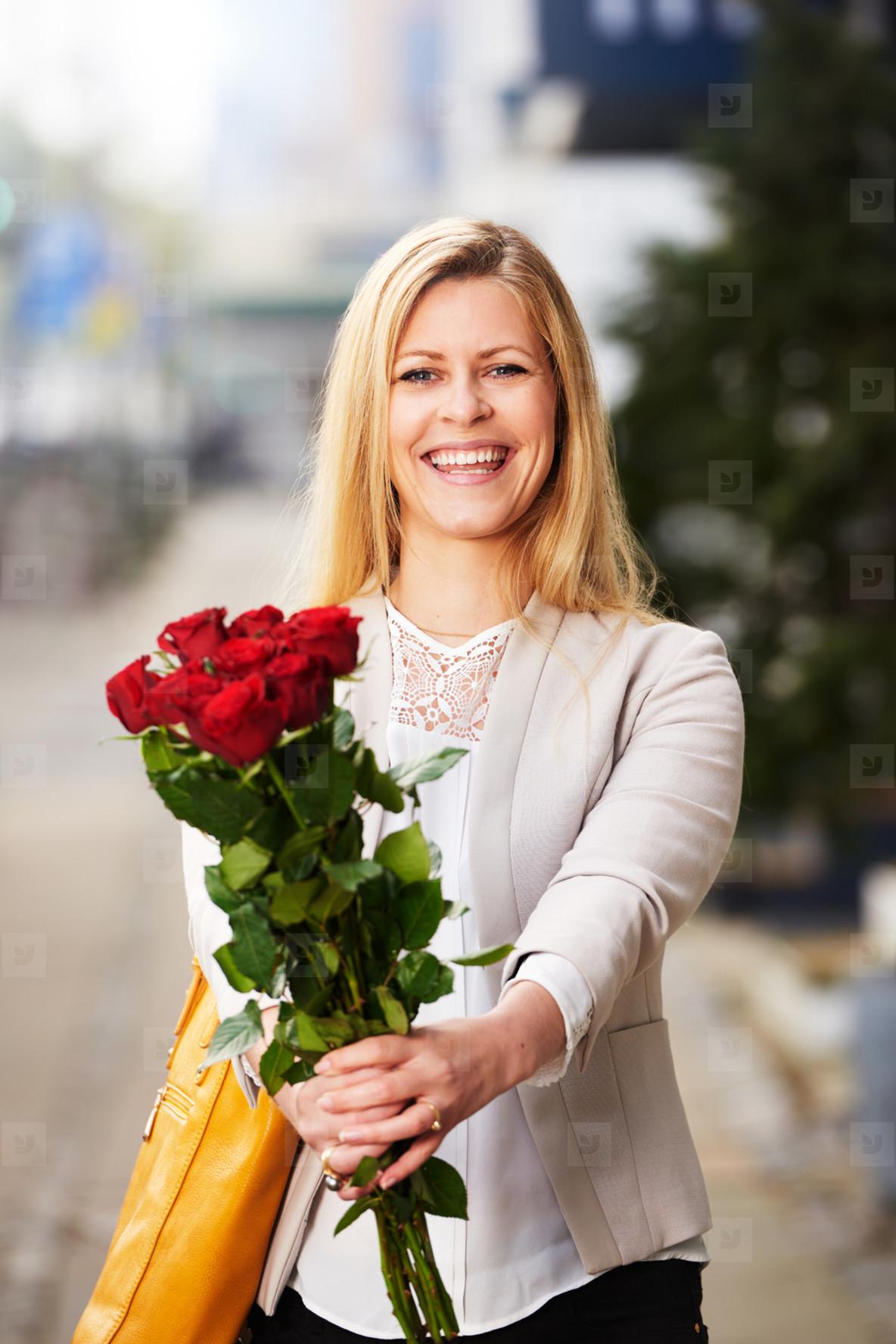 Professional white woman smiling