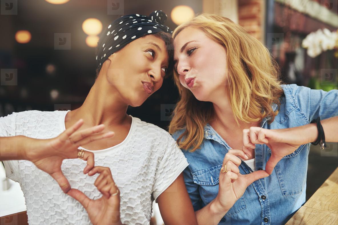 Two women ethnic friends