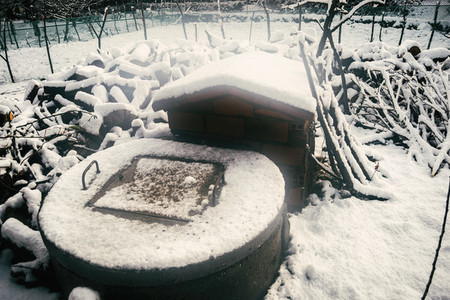 old snowy water well