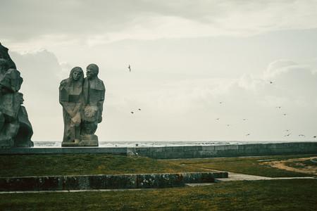 Outdoor sculptures in Baiona  Galicia Spain