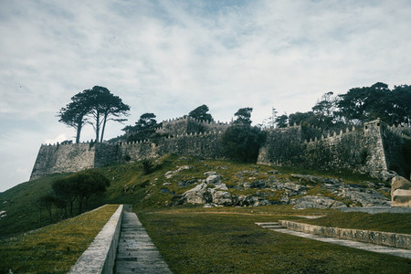 Castle and wall of Baiona  Galicia Spain