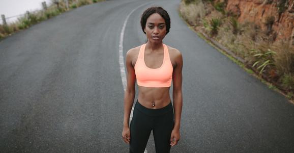 Portrait of a woman runner