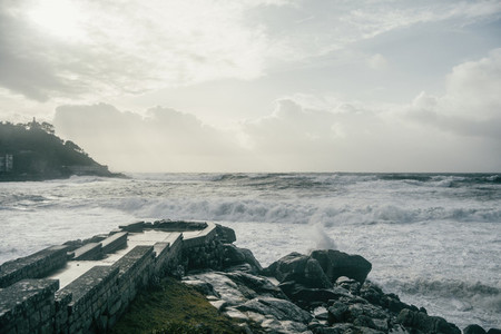 Coast of Baiona  Galicia Spain