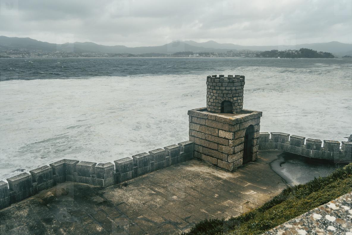 wall of Baiona  Galicia Spain