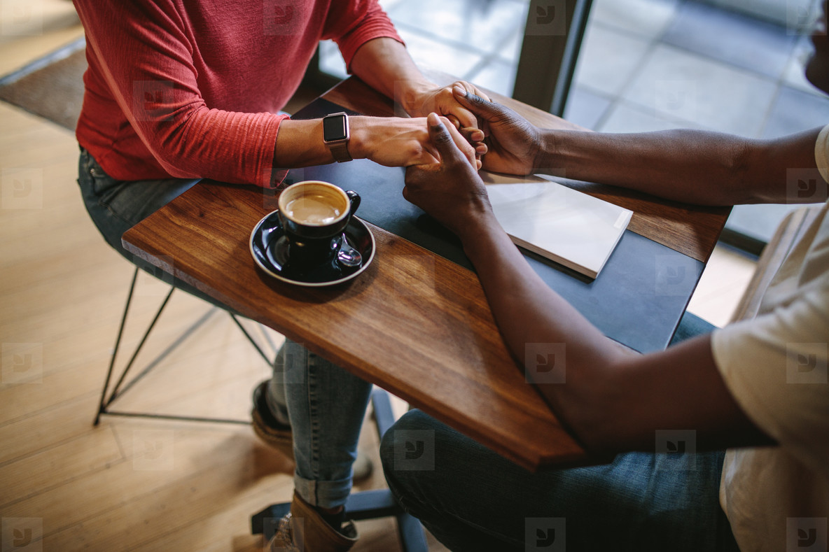 Romantic couple at a coffee shop