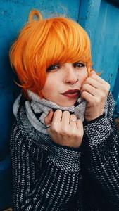 Youthful redhead model