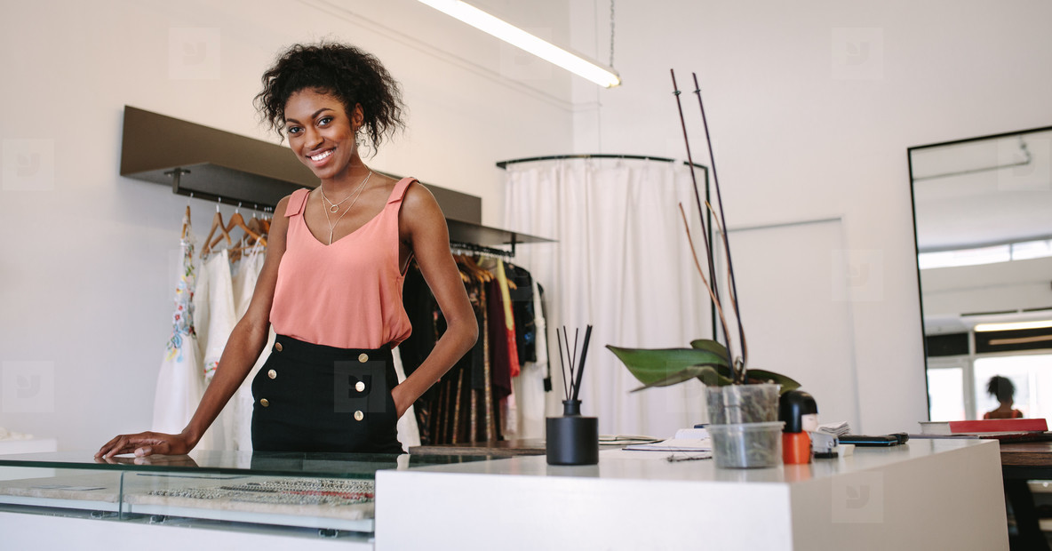 Woman entrepreneur in her boutique