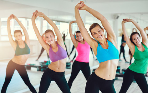 Fit and healthy women exercising