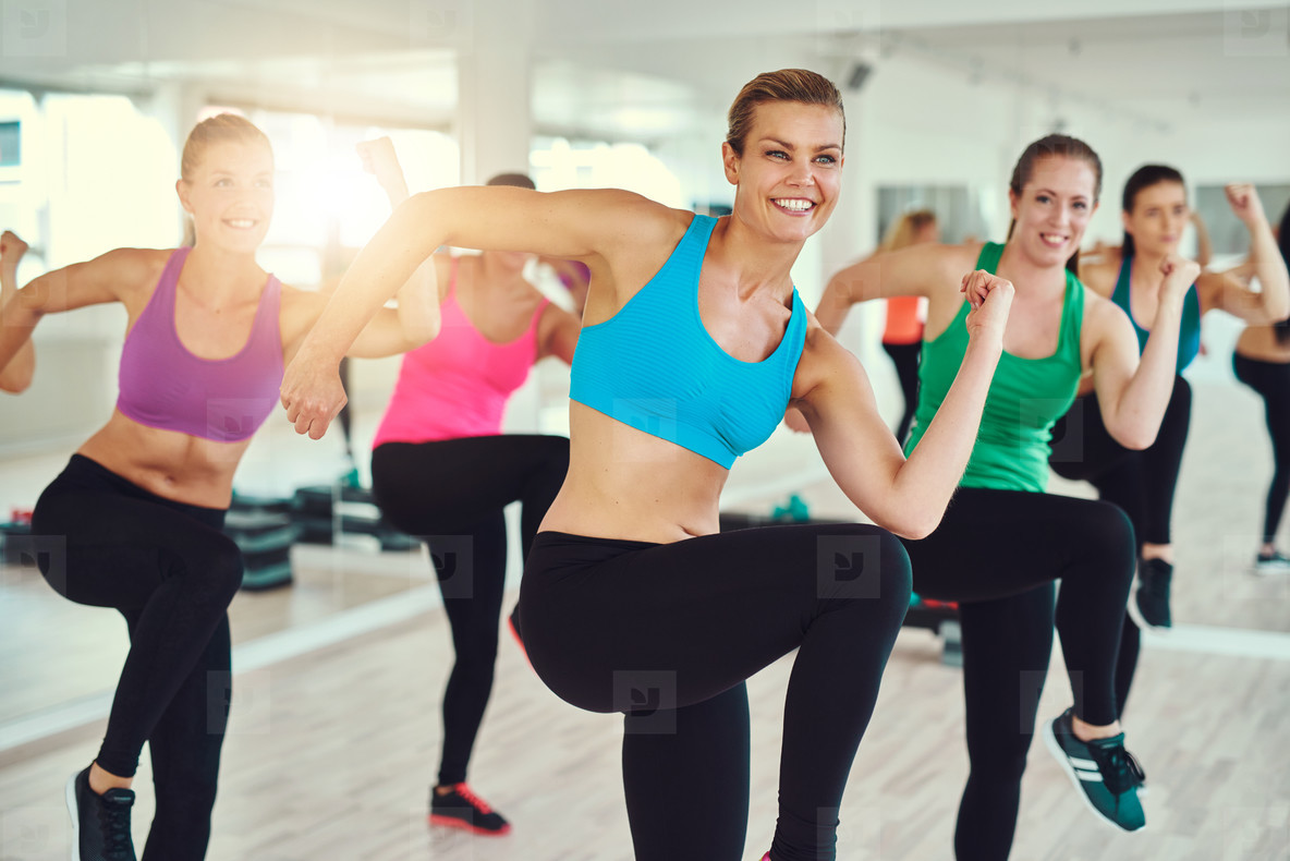 Group of women at a fitness class