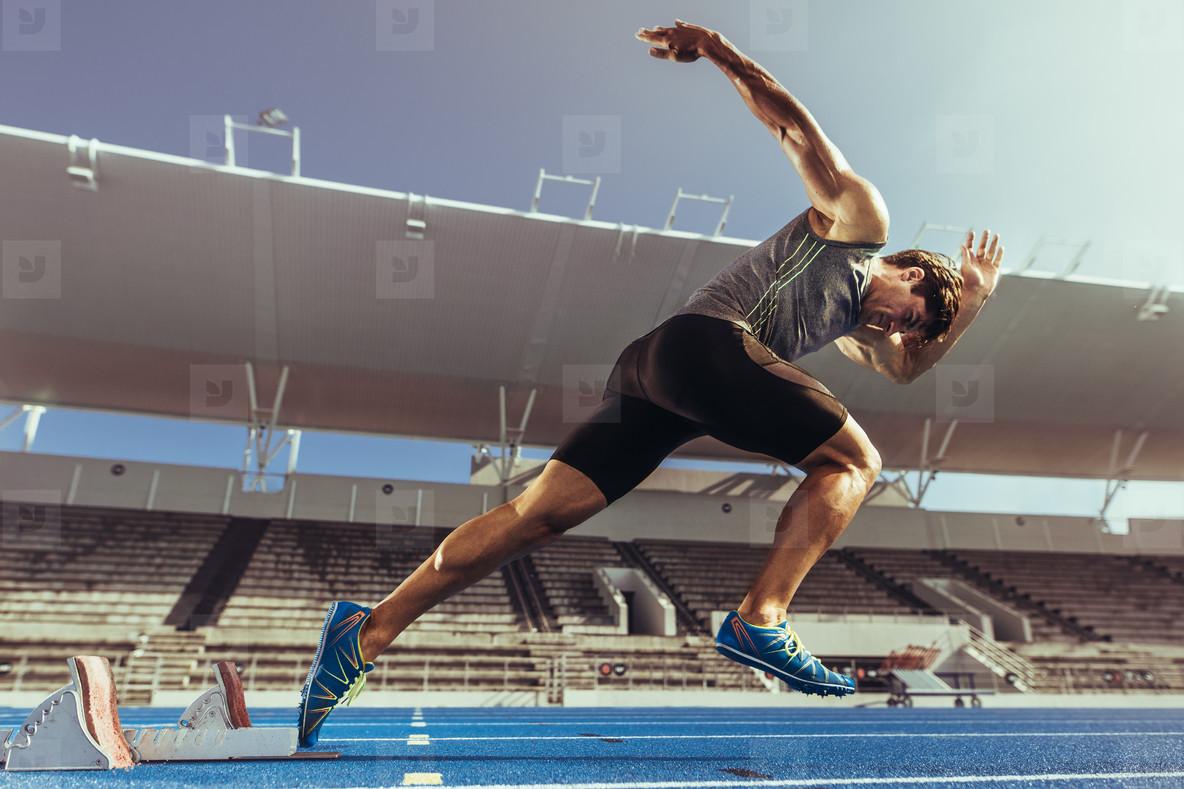 poster sprinter Running off the block print student sprint teacher coach