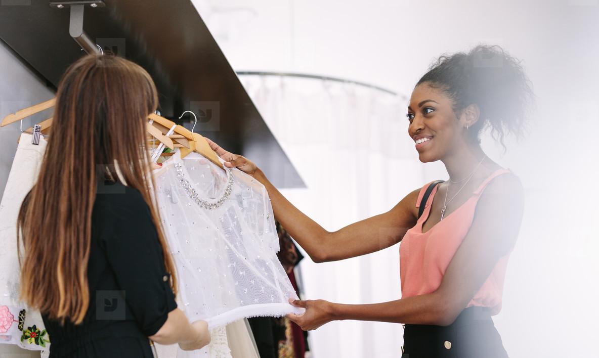 Woman entrepreneur at work in her fashion studio