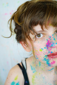 Pretty artist woman