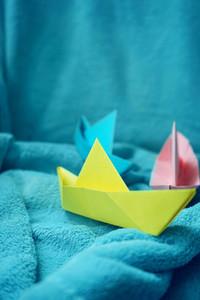 Color paper boats