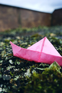 Color paper boats