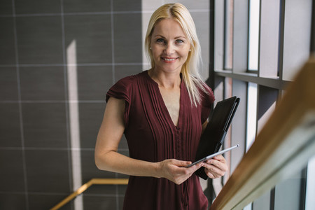 Woman at work in modern office
