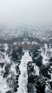 Aerial View Winter Milan