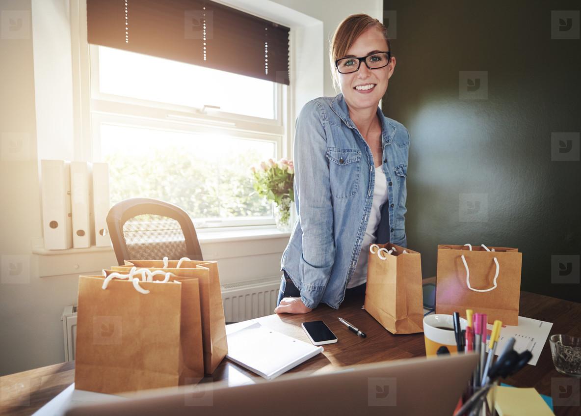 Successful new female entrepreneur