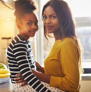 Black woman and her daughter