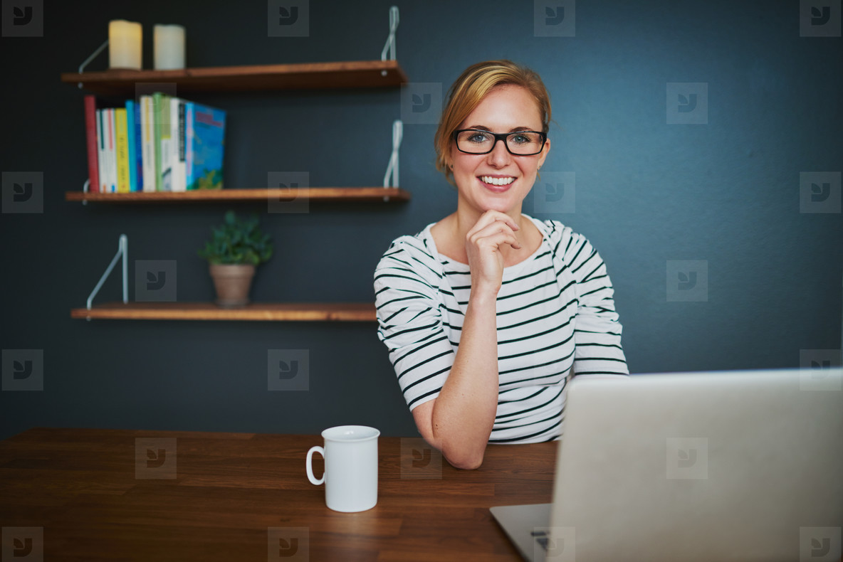 Confident female entrepreneur at office
