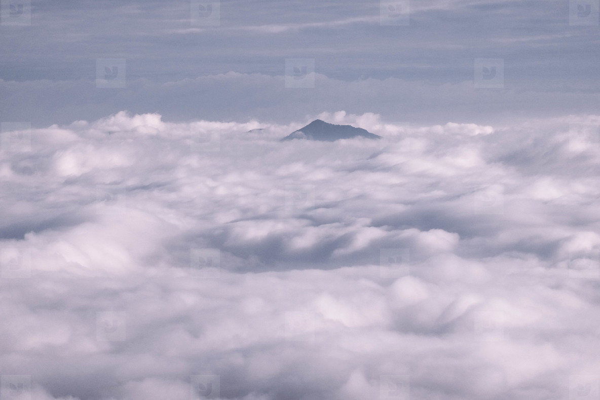 Skyscraper with clouds