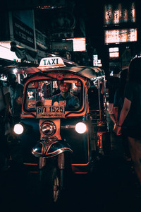 Tuk Tuk on a busy street